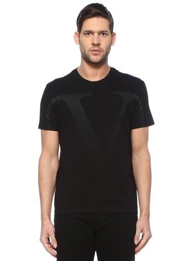 Valentino Valentino VLogo  Bisiklet Yaka T-shirt 101619317 Siyah